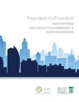 President to President Mastering University Community Partnerships